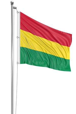 3D bandera de Bolivia  photo