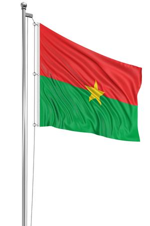 burkina faso: 3D Burkina Faso flag