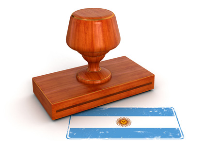 bandera argentina: Camino de la bandera Argentina recorte del sello de goma incluidos