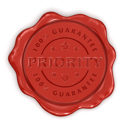 Wax Stamp Prity  clipping path included  Stock Photo - 24654524