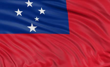 samoa: 3D flag of Samoa