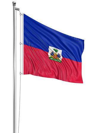 haitian: 3D Haitian flag Stock Photo