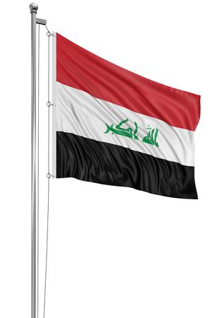 iraqi: 3D Iraqi flag Stock Photo