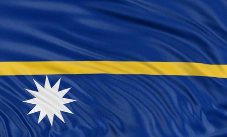 nauru: 3D Nauru flag Stock Photo