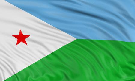 djibouti: 3D Djibouti flag Stock Photo