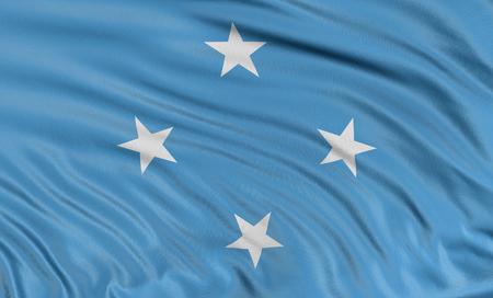 micronesia: 3D flag of Micronesia