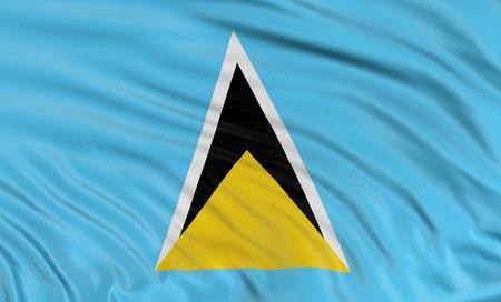 lucia: 3D flag of Saint Lucia