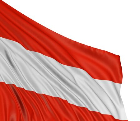 3D Austrian flag  clipping path included  photo