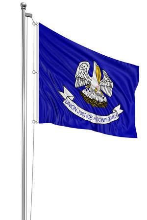 louisiana flag: 3D Louisiana Flag