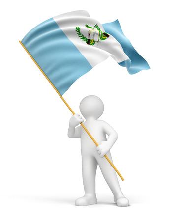bandera de guatemala: Camino de recortes del indicador Hombre y Guatemala incluido