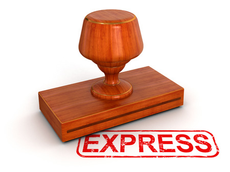 Passed out: Rubber Stamp express Stock Photo