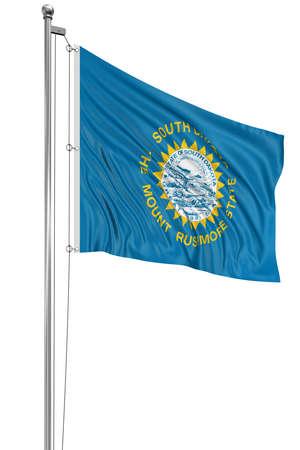 south dakota: 3D South Dakota Flag