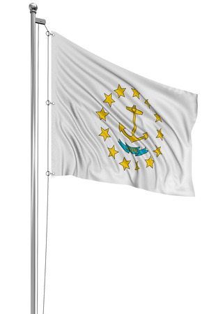 3D Rhode Island Flag photo