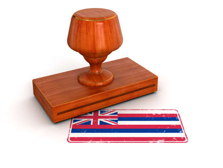 Rubber Stamp Hawaii flag   photo