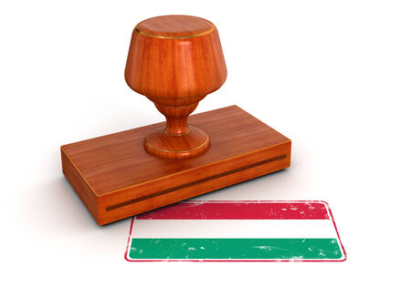 Rubber Stamp Hungarian flag  clipping path included  photo