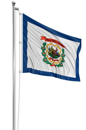 west virginia: 3D West Virginia  Flag Stock Photo