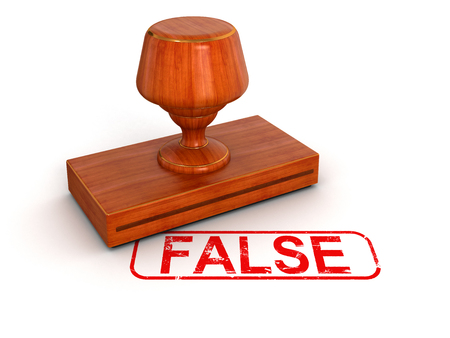Rubber Stamp False  clipping path included  photo