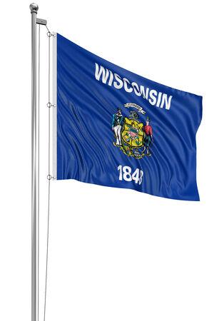 wisconsin flag: 3D Wisconsin  Flag