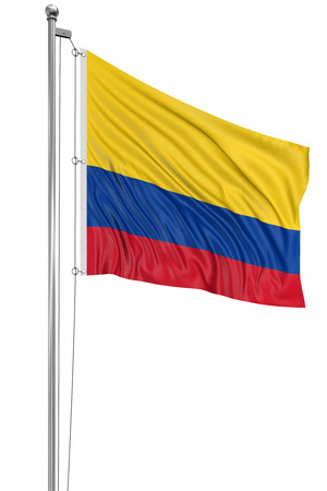 colombian flag: 3D Colombian flag   clipping path included