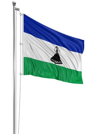 lesotho: 3D flag of Lesotho