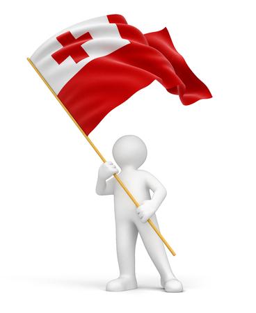 tonga: Man and Tonga flag