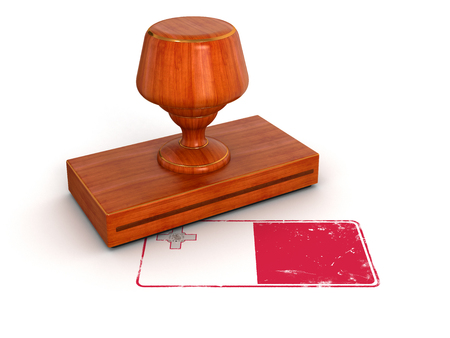 Rubber Stamp Malta flag   photo