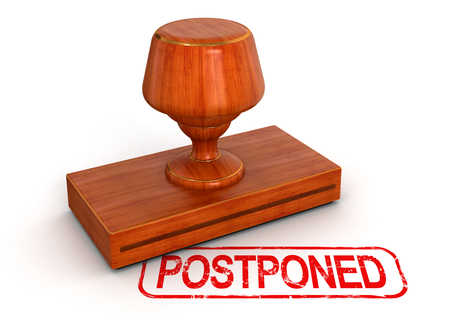 Rubber Stamp postponed Stock Photo - 25407501