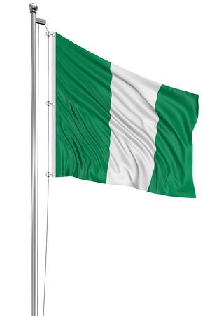 nigerian: 3D Nigerian flag