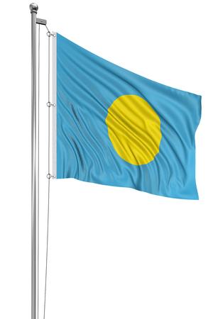 palau: 3D flag of Palau