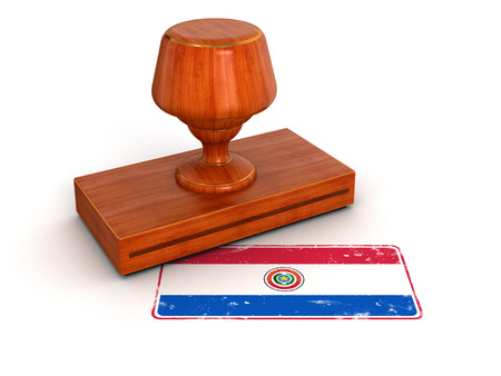 Rubber Stamp Paraguayan flag  photo