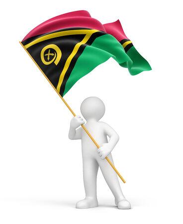 vanuatu: Man and Vanuatu flag