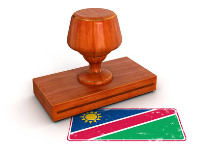 Rubber Stamp Namibia flag  photo