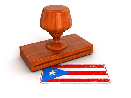 Rubber Stamp Puerto Rico flag   photo