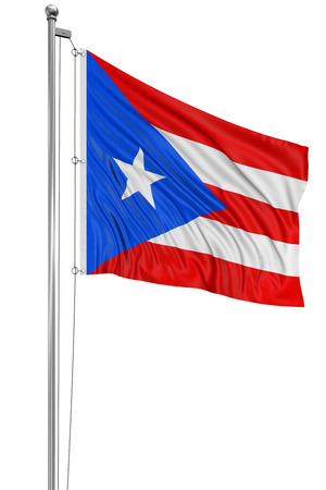 puerto rican flag: 3D flag of Puerto Rico Stock Photo