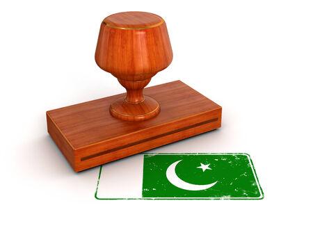 pakistan flag: Rubber Stamp Pakistan flag