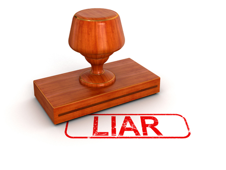 Rubber Stamp Liar    photo