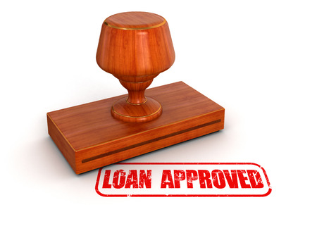 Rubber Stamp Loan Approved Stock Photo - 25457655