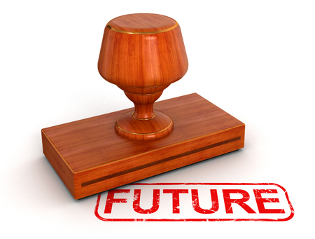 included: Rubber Stamp future   clipping path included