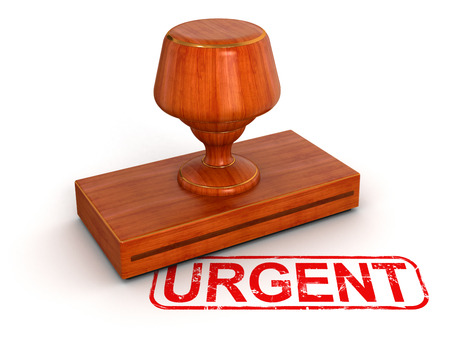 Rubber Stamp Urgent photo
