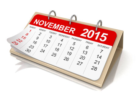 Calendar -  November 2015  photo