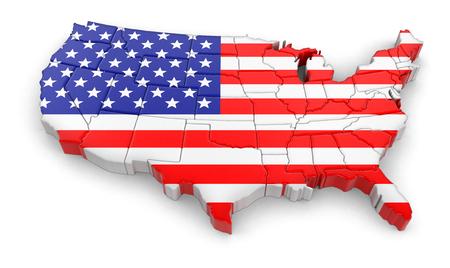 美國地圖 版權商用圖片