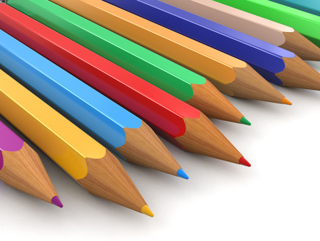 Colored pencils (clipping path included) photo