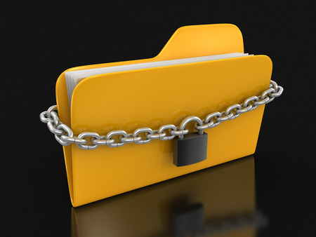 folder and chain (clipping path included) photo