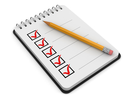 Notepad Checklist (clipping path included) Reklamní fotografie
