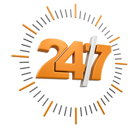247 Sign (clipping path included)