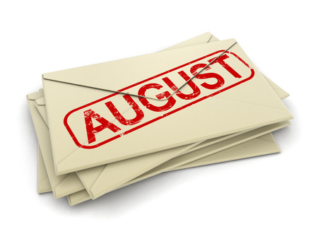 copyrighted: august letters  (clipping path included)