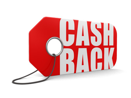 rebate: Label cash back (clipping path included)