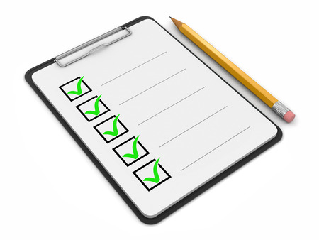 Clipboard Checklist (clipping path included)