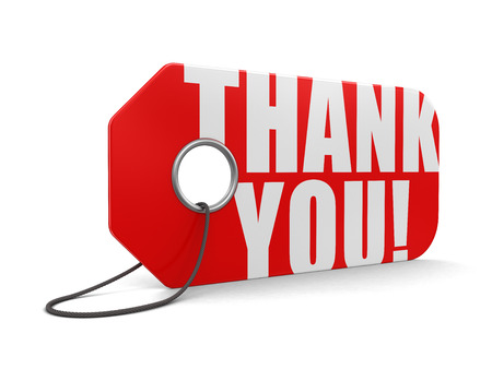 short phrase: Label Thank You (clipping path included)
