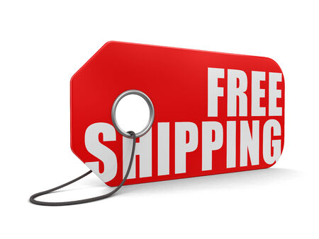 Label free shipping (clipping path included)